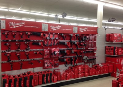 Milwaukee tools and accessories at Home Lumber, Great Bend.