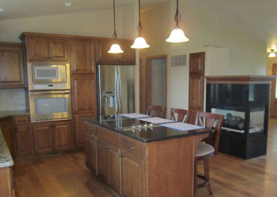 Kitchen designed and furnished by Home Lumber, Pratt, Kansas.