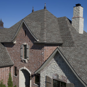 Roof shingled with Tamko shingles.