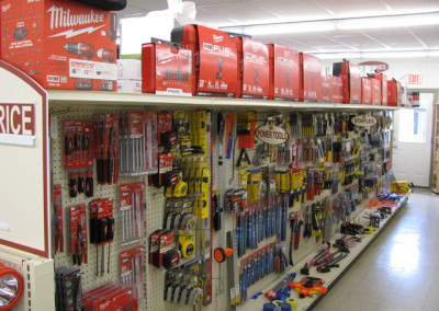 Milwaukee tools, Home Lumber, Eureka, Kansas.