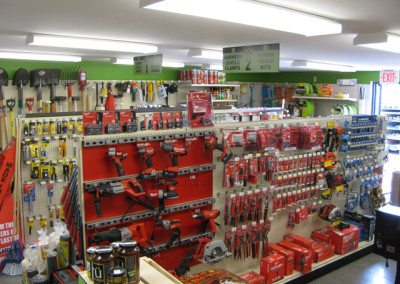 Power tools and accessories at Home Lumber, Greensburg, Kansas.