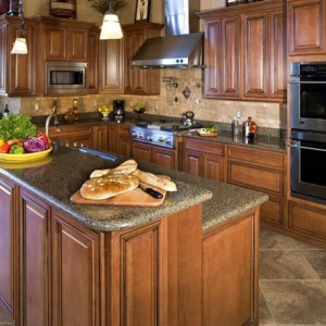 Nice kitchen with Bridgewood Brand Cabinets.